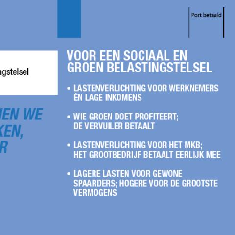 Voor een sociaal en groen belastingstelsel