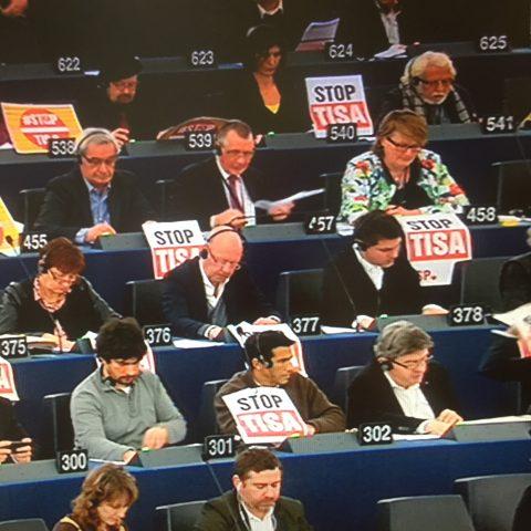 Stemming over het TiSA-verdrag in het Europees Parlement