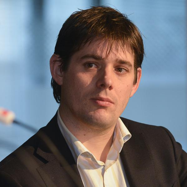 Arjan Vliegenthart bij het Moed-debat over Democratie, Economie en Samenleving. (Foto: Karen Veldkam)