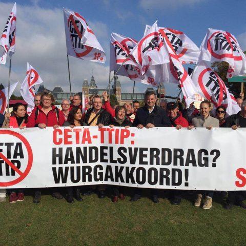 Demonstratie tegen CETA en TTIP