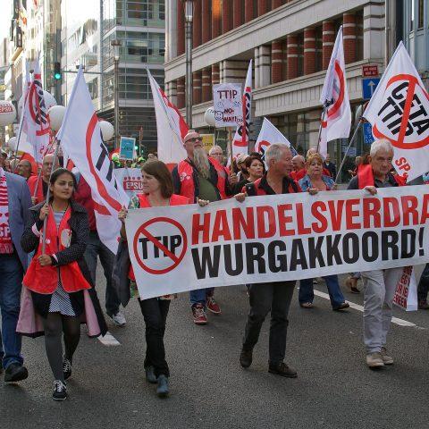Anti-TTIP-CETA-demonstratie, Brussel, 20 september 2016