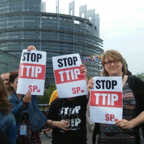 TTIP-demonstratie, Straatsburg, 10 juni 2015