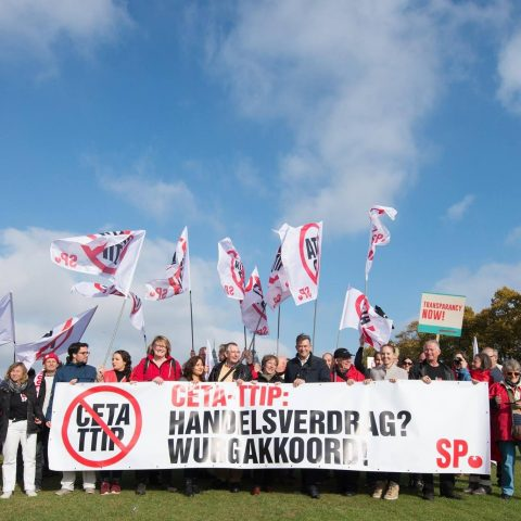 CETA-demonstratie in Amsterdam