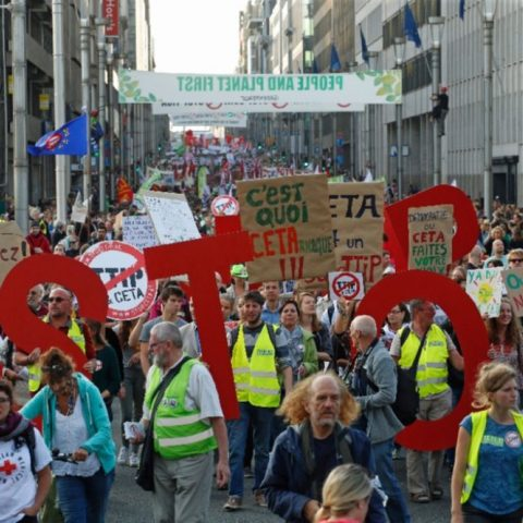 Stop TTIP/CETA-demo in Brussel, 20 september 2016