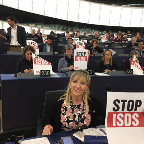 Stop ISDS campagne in het Europese Parlement, 13 februari 2019