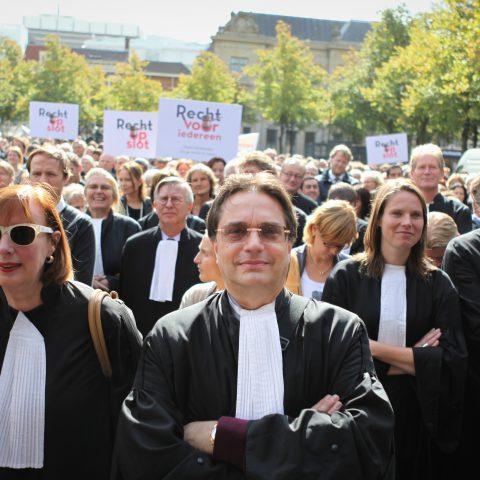 Protest 'Recht voor iedereen' Plein Den Haag septemer 2011