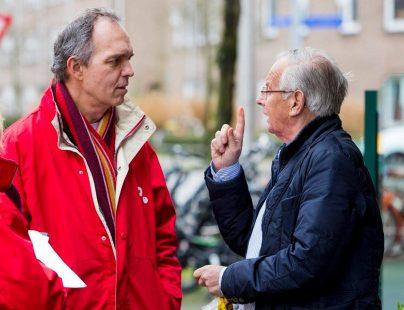 SP-wethouder Paulus Jansen bij de Super Zaterdag in Utrecht