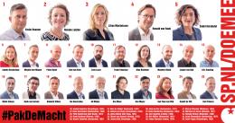 SP Kandidatenlijst 2017