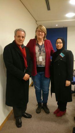 In februari 2018 bezocht de vader van Nasser Zafzafi het Europees Parlement